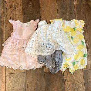 18m bundle baby gap pink dress, eyelet bubble
